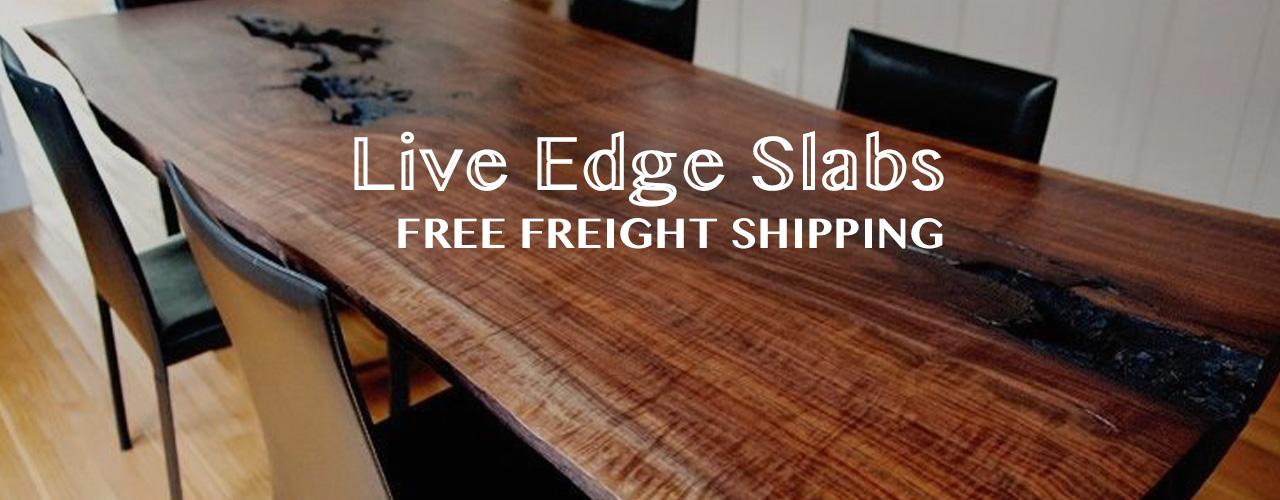Live Edge Hardwood Slabs